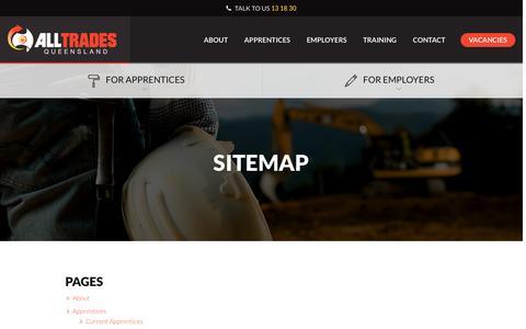 Screenshot of Site Map Page atq.com.au - Sitemap | All Trades Queensland - captured Nov. 20, 2016