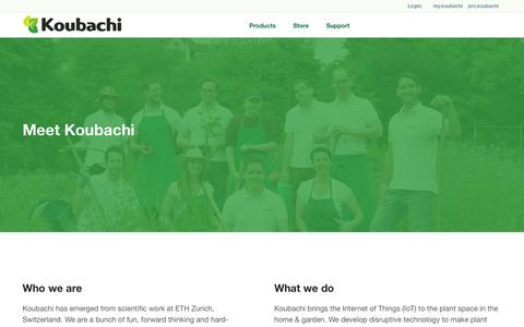 Screenshot of About Page koubachi.com - About Us | Koubachi - captured Oct. 29, 2014
