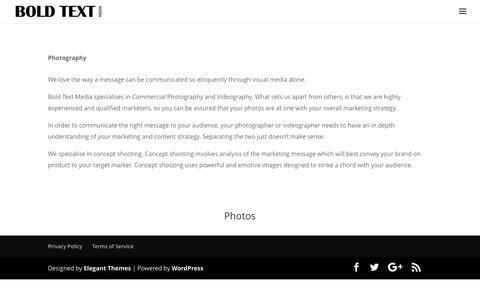 Screenshot of Press Page boldtextmedia.com.au - Media | BOLD TEXT MEDIA - captured May 31, 2017