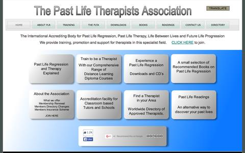 Screenshot of Home Page pastliferegression.co.uk - Past Life Regression - captured March 4, 2016
