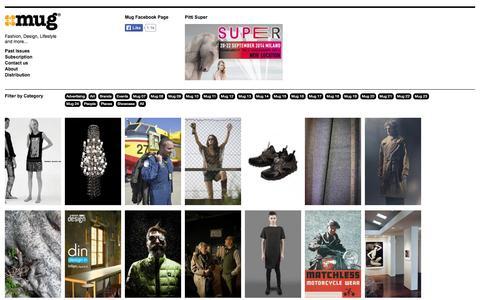 Screenshot of Home Page mugmagazine.com - Mug Magazine, Fashion, Design, Lifestyle & more - captured Sept. 30, 2014
