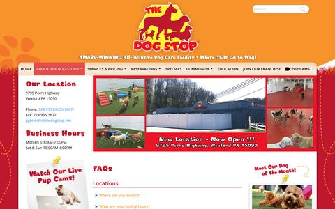 Screenshot of FAQ Page thedogstop.net - FAQs | The Dog Stop® Monroeville - captured Nov. 27, 2016