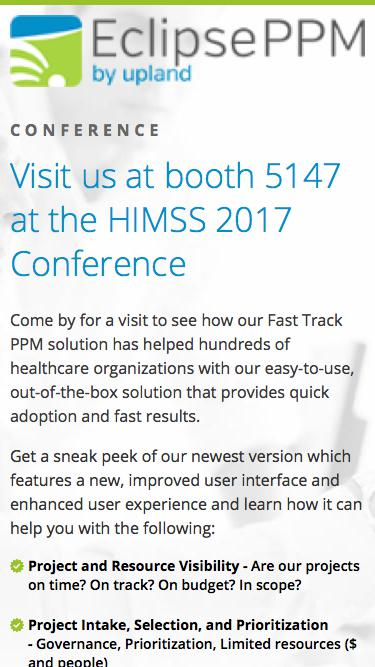 Eclipse HIMSS 2017 Conference