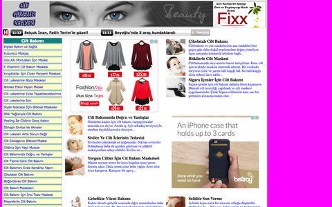 Screenshot of Home Page ciltguzellikrehberi.com - Cilt Bakımı, Güzellik Sırları, Cilt Lekeleri, Sivilce İzleri, Bitkisel Cilt Bakımı, Cilt Maskeleri, Yüz Maskeleri, - captured Oct. 17, 2015