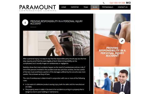 Screenshot of Blog paramountlawyers.com.au - Blog - captured July 6, 2016