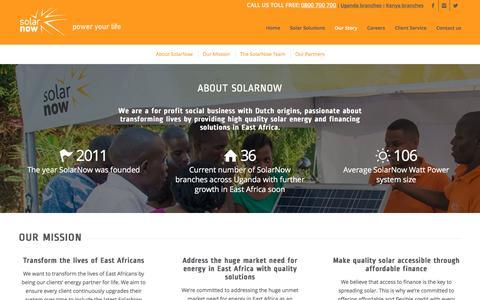 Screenshot of Team Page solarnow.eu - Our Story - SolarNow Uganda - captured Dec. 12, 2016
