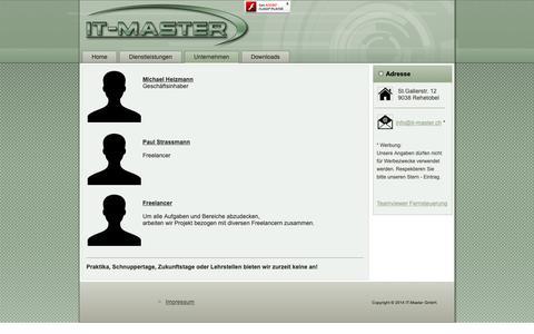 Screenshot of Team Page it-master.ch - Team - captured Dec. 2, 2018