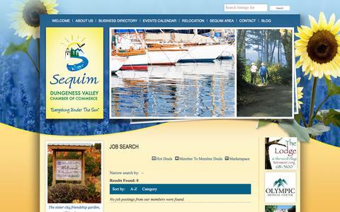 Screenshot of Jobs Page sequimchamber.com - Job Search - captured Jan. 21, 2017