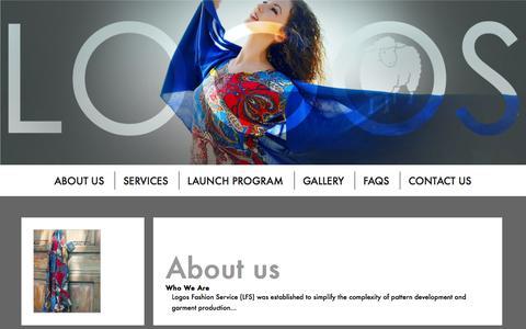 Screenshot of Home Page logosfashionservice.com - Best Low Volume Apparel Manufacturer In Vietnam For Start-Up Fashion Designers | Logos Fashion Service - captured Sept. 30, 2014