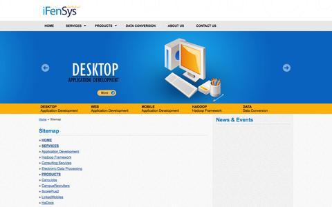 Screenshot of Site Map Page ifensys.com - iFenSys Software Solutions Pvt. Ltd | Sitemap - captured Nov. 3, 2014