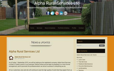 Screenshot of Press Page alpharuralservices.co.uk - News & Updates - Alpha Rural Services Ltd - captured Dec. 24, 2015