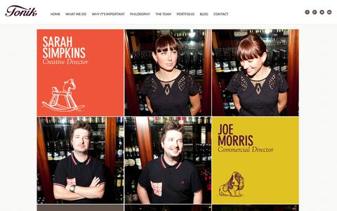 Screenshot of Team Page brandingbytonik.co.uk - The design agency team in Sheffield | Tonik - captured Sept. 19, 2014