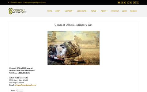 Screenshot of Contact Page official-military-art.com - Contact Official Military Art - captured Nov. 23, 2018