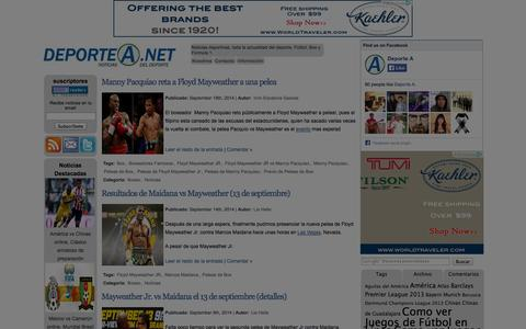 Screenshot of Home Page deportea.net - Deporte A - captured Sept. 23, 2014