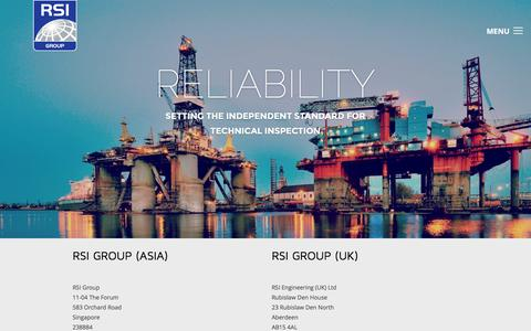 Screenshot of Contact Page rsigroup.com - Contact RSI | RSI Group - captured Feb. 17, 2016
