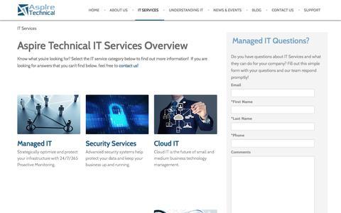 IT Services Overview   Chandler, AZ   Aspire Technical