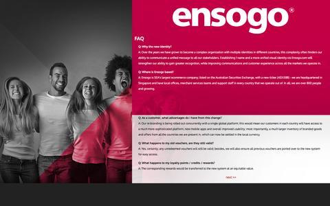 Screenshot of FAQ Page ensogo.com - Ensogo - captured Dec. 3, 2015