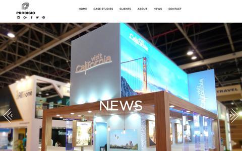 Screenshot of Press Page prodigio.co.uk - News - Prodigio - Prodigio - captured Nov. 11, 2016
