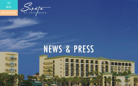 Screenshot of Blog sirata.com - News & Press | St. Pete Beach Hotel | Sirata Beach Resort - captured Oct. 20, 2018