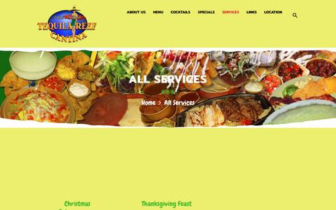 Screenshot of Services Page tequilareef.com - Services Archive - Tequila Reef Pattaya Restaurant - captured Oct. 20, 2018