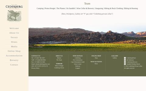 Screenshot of Team Page cederbergwine.com - team-gallery - Cederberg WinesCederberg Wines - captured May 15, 2017