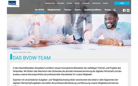 Screenshot of Team Page bvdw.org - Team: Bundesverband Digitale Wirtschaft (BVDW) e.V. - captured Sept. 22, 2018