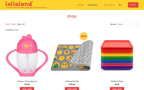 Screenshot of Products Page lollaland.com - Shop - lollaland - captured Nov. 13, 2016