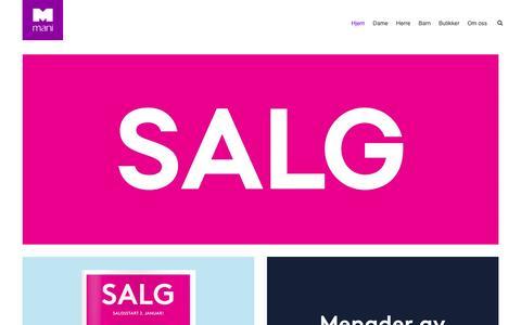 Screenshot of Home Page skomani.no - Mani | Sko, Støvletter, Sandaler.. - captured Feb. 2, 2016