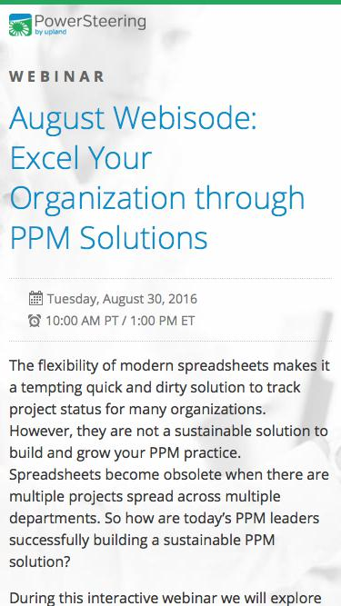 Excel Your Organization through PPM Solutions