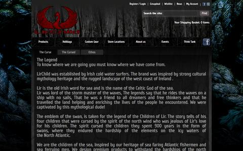 Screenshot of About Page lirchild.com - Cursed - captured Oct. 10, 2014