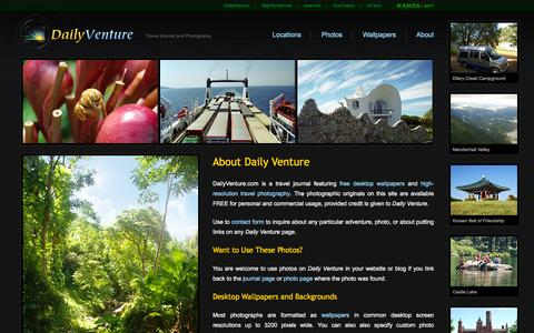 Screenshot of About Page dailyventure.com - About Daily Venture - captured April 16, 2016