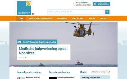 Screenshot of Home Page onderzoeksraad.nl - Onderzoeksraad voor Veiligheid - captured Dec. 19, 2016