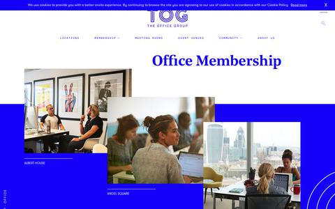 Screenshot of theofficegroup.co.uk - Office Spaces for Hire in the UK | The Office Group - captured Sept. 10, 2017
