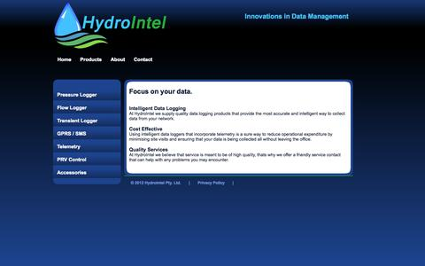 Screenshot of About Page hydrointel.com.au - HydroIntel | Intelligent Data Loggers - captured Oct. 3, 2014