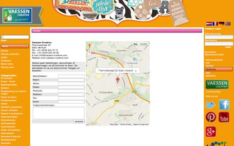 Screenshot of Contact Page vaessen-creative.com - Vaessen Creative - captured Oct. 30, 2014