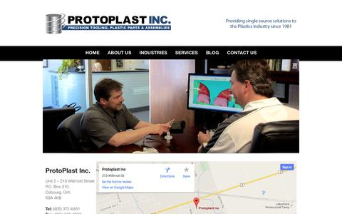 Screenshot of Contact Page protoplast.com - Contact Us - Protoplast Inc.Protoplast Inc. - captured Oct. 3, 2014