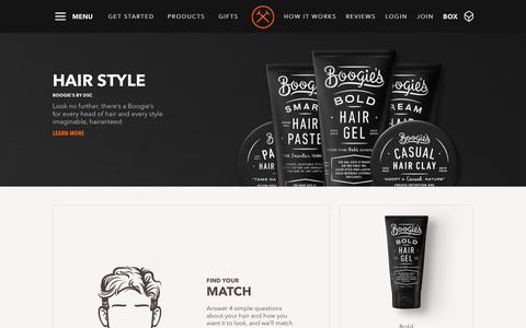 Boogie's Hair Styling Products For Men | Dollar Shave Club