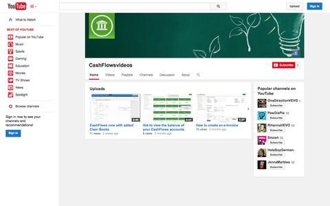 Screenshot of YouTube Page youtube.com - CashFlowsvideos  - YouTube - captured Oct. 22, 2014