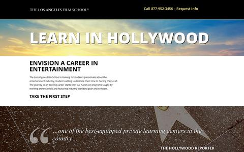 Screenshot of Landing Page lafilm.edu - go.lafilm.edu  info - go.lafilm.edu - captured Aug. 3, 2016