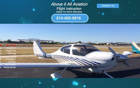 Screenshot of Home Page flyaboveitall.com - learntofly - captured Feb. 5, 2016