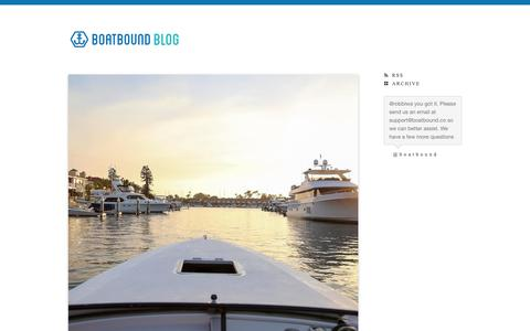 The Boatbound Blog