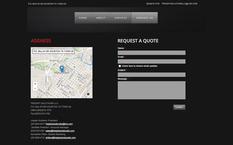 Screenshot of Privacy Page Contact Page freightsolutionsllc.com - Contact Us - captured June 6, 2017