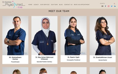Screenshot of Team Page drkamkar.com - Our Team — Dr. Kamkar - captured Oct. 9, 2018