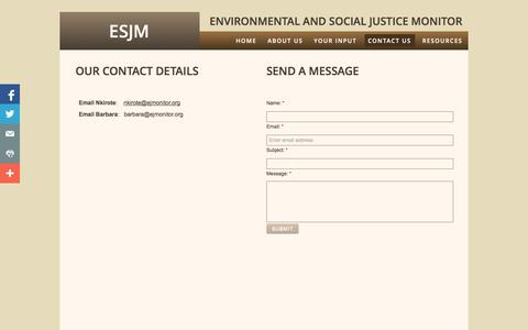 Screenshot of Privacy Page Contact Page ejmonitor.org - Contact Us - captured Oct. 23, 2014