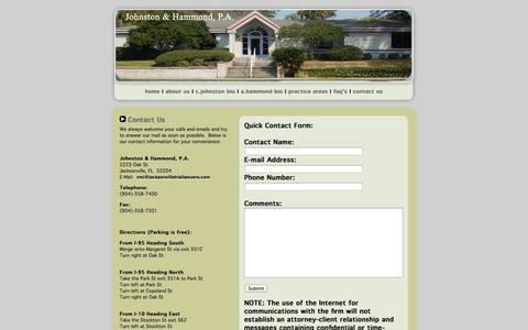 Screenshot of Contact Page Maps & Directions Page jacksonvilletriallawyers.com - Contact Us - captured Oct. 23, 2014
