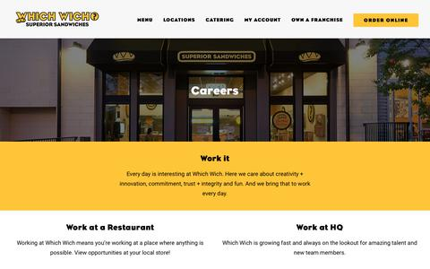 Screenshot of Jobs Page whichwich.com - Which Wich® Jobs & Careers | Which Wich Superior Sandwiches - captured Aug. 4, 2017