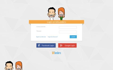 Screenshot of Login Page bitlanders.com - bitLanders | Sign up - captured March 1, 2016