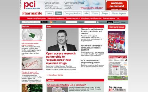 Screenshot of Press Page pharmafile.com - News | Pharmafile - captured Jan. 27, 2016