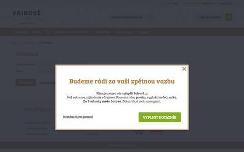 Screenshot of Login Page fairove.cz - Přihlášení | Fairově.cz - captured Nov. 24, 2016