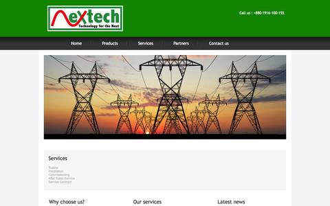 Screenshot of Services Page nextech-bd.com - Complete - captured Oct. 26, 2014
